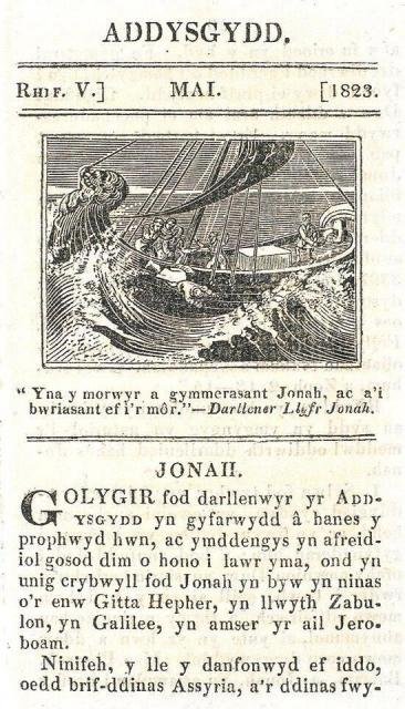Jonah is Cast Overboard    from    Illustrations from the Addysgydd