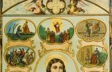 The Sacred Heart of Christ with Scenes from the Gospels