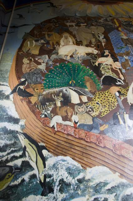 Noah's Ark    detail from    Noah's Ark and the Creation