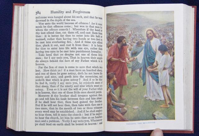 Feeding the Multitude    from    Illustrations from The School Bible