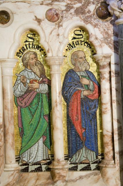 St Matthew and St Mark    detail from    The Four Evangelists with St Peter and St Paul