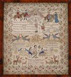 Sampler with Scenes from the Bible