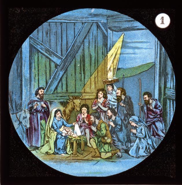 The Nativity    from    Set of Lantern Slides