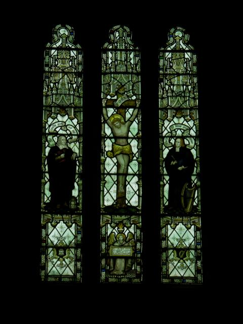 Crucifixion with Vicar Prichard and William Williams Pantycelyn
