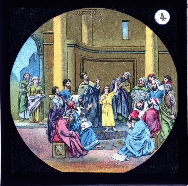 Christ with the Doctors in the Temple    from    Set of Lantern Slides