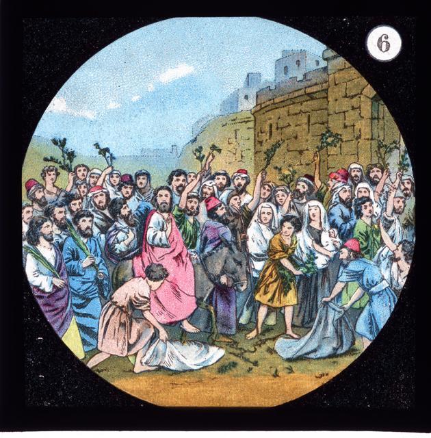 The Triumphal Entry into Jerusalem    from    Set of Lantern Slides