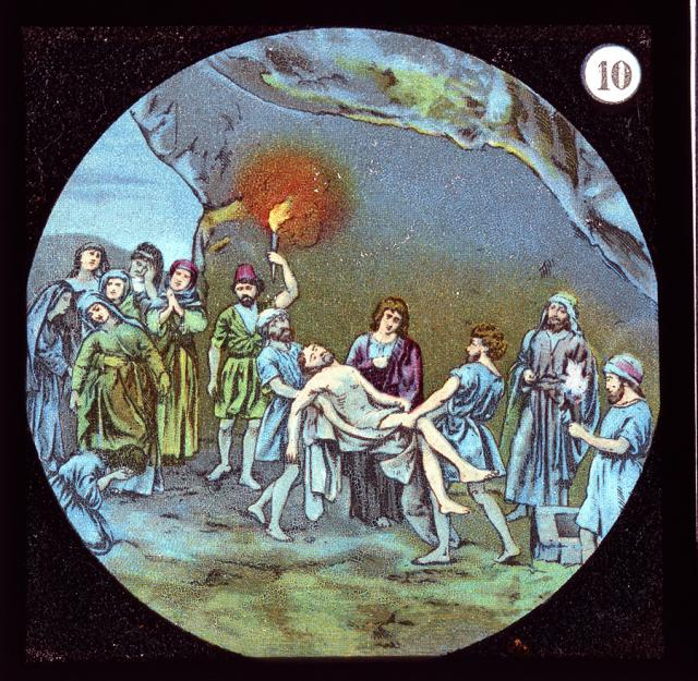 The Entombment of Christ    from    Set of Lantern Slides