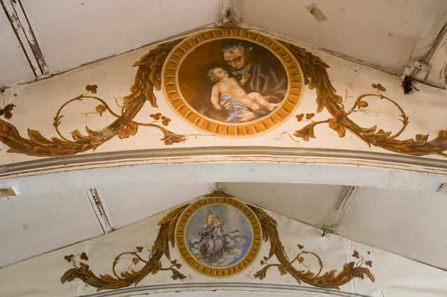 St Joseph and the Infant Christ    from    Roundels on the Roof Beams