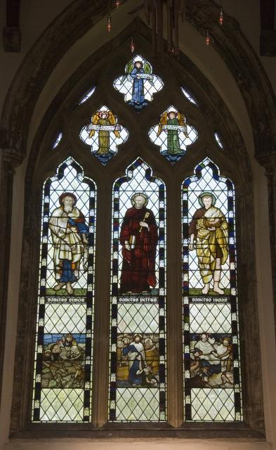 St Simon, St Peter, St Jude and Scenes from the New Testament