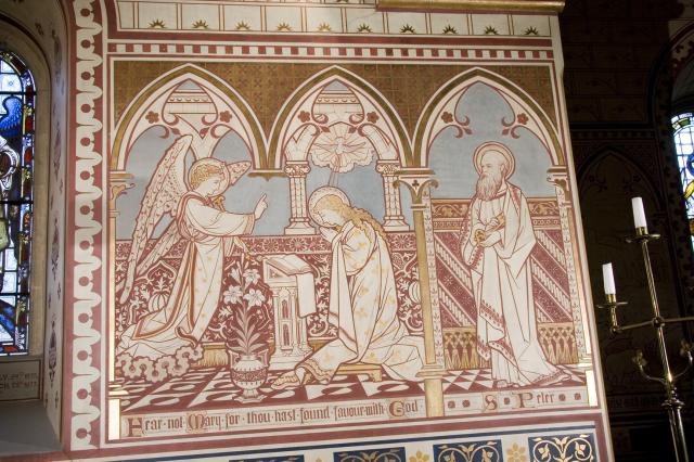 Annunciation and St Peter    from    Scenes from the Gospels