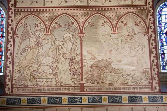 The Sacrifice of Isaac and God Giving the Ten Commandments    from    Scenes from the Bible