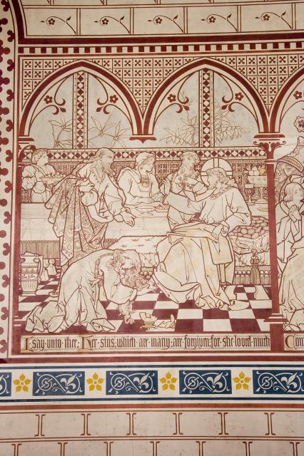 Christ's Feet are Anointed at the House of a Pharisee    from    Scenes from the Bible