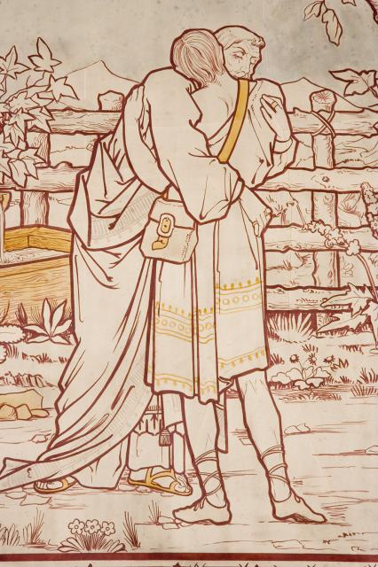 The Prodigal Son is Met by His father    from    Scenes from the Bible