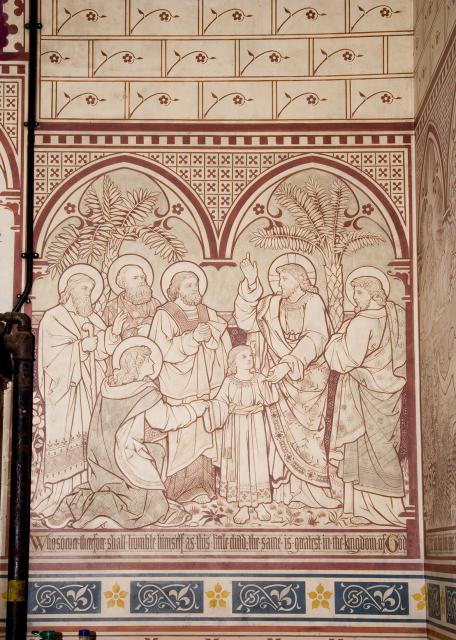 Christ with a Child Among his Disciples    from    Scenes from the Bible