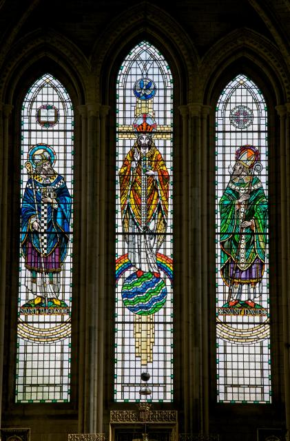 Christ with St Theodore and St David