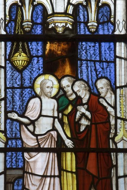 Christ Showing His Wounds to His Disciples    detail from    Christ in Majesty with Scenes from the Gospels