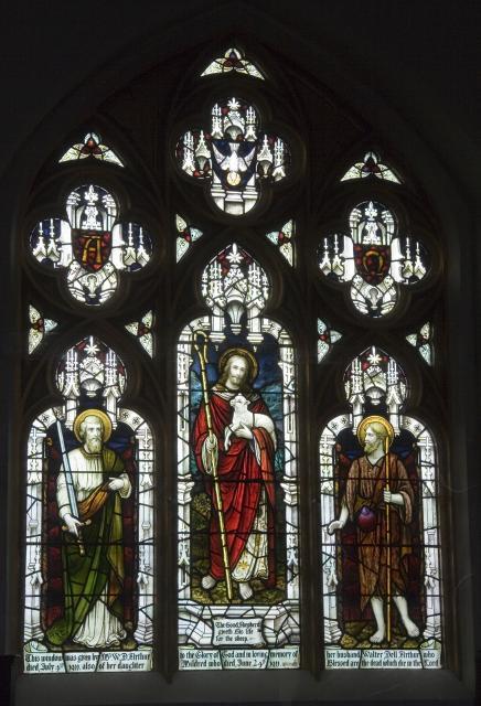 Christ the Good Shepherd with St Paul and St John the Baptist
