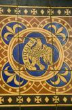 The Eagle of St John the Evangelist    detail from    Chancel Tiles with the Symbols of the Four Evangelists