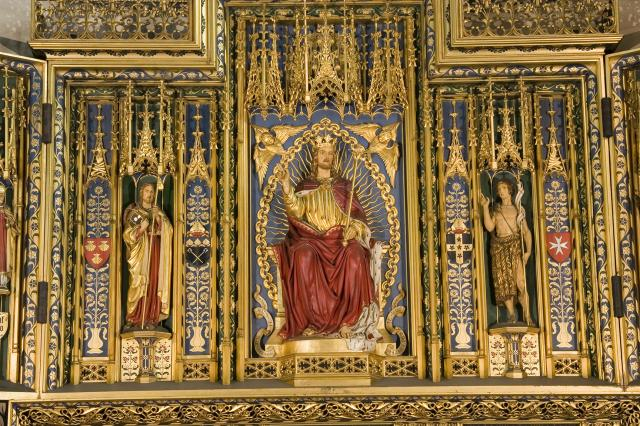 Christ in Majesty with St James and St John the Baptist    detail from    Christ in Majesty with Welsh Saints