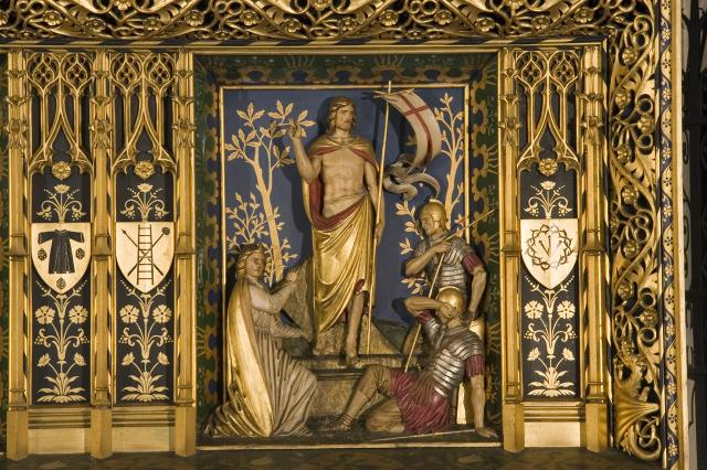 The Resurrection    detail from    Christ in Majesty with Welsh Saints