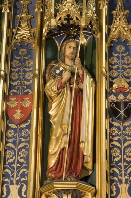 St James    detail from    Christ in Majesty with Welsh Saints