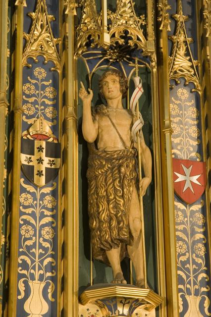 St John the Baptist    detail from    Christ in Majesty with Welsh Saints