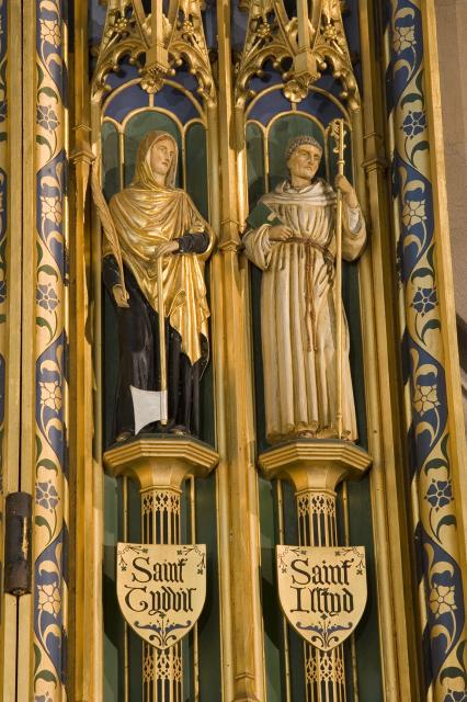St Tudful and St Illtud    detail from    Christ in Majesty with Welsh Saints
