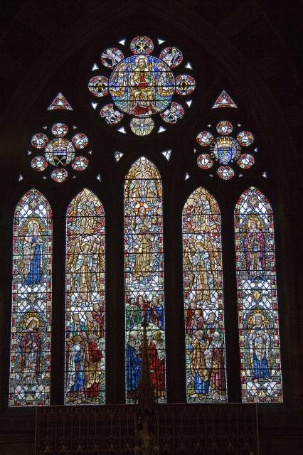 Ascension with St Anne, St Agnes, St Edward the Confessor and St Philip