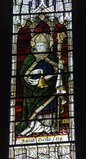 St Teilo    detail from    Christ in Majesty With Welsh Saints