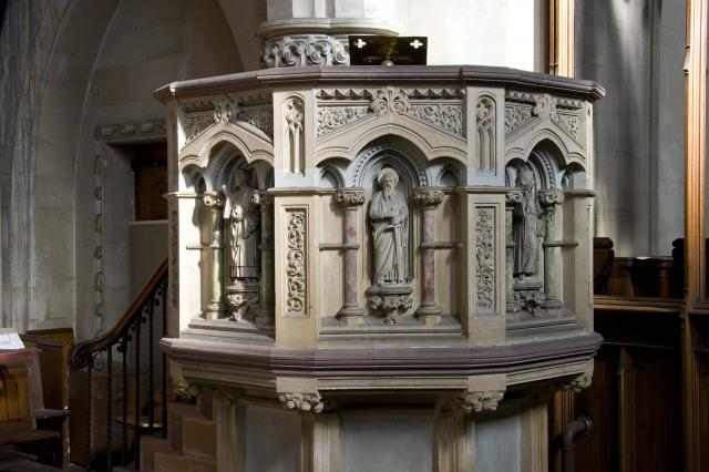 Pulpit with Figures of Preachers