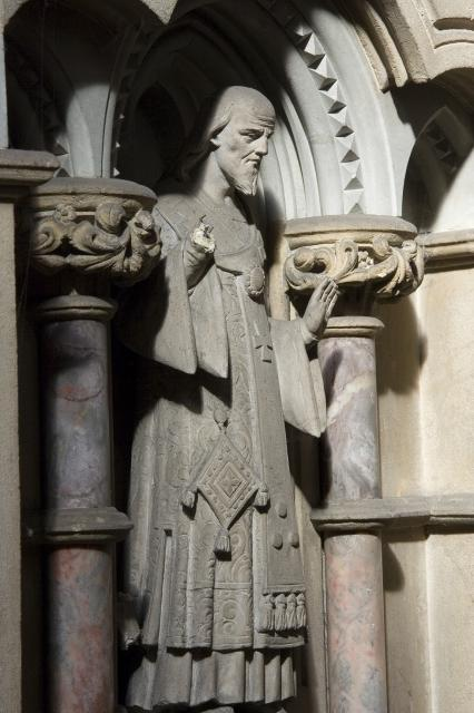 St John Chrysostom    detail from    Pulpit with Figures of Preachers