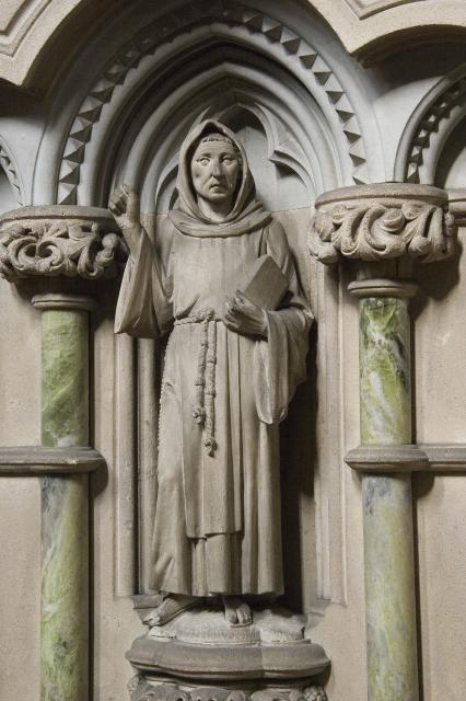 Girolamo Savonarola    detail from    Pulpit with Figures of Preachers