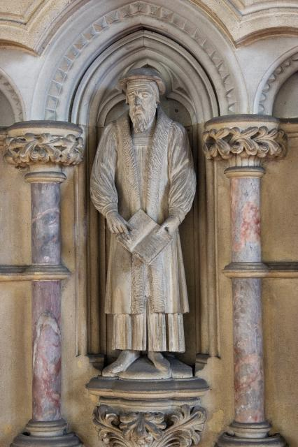 Bishop Hugh Latimer    detail from    Pulpit with Figures of Preachers