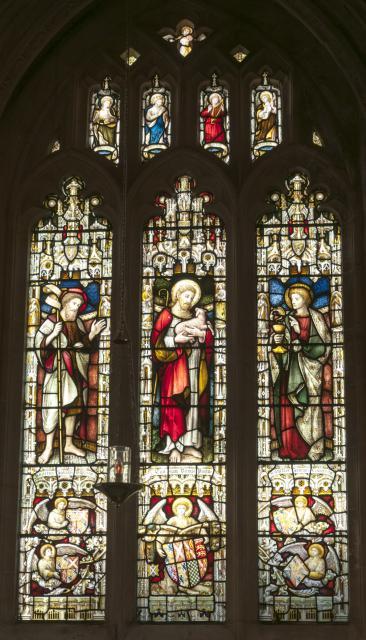 Christ the Good Shepherd with St John the Baptist and St John the Evangelist