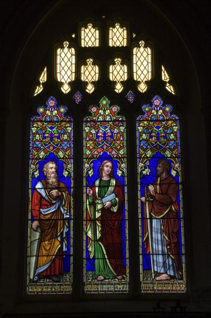 St John the Evangelist with Moses and St Paul