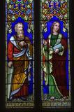 Moses and St John the Evangelist: St John the Evangelist with Moses and St Paul