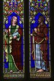 St John the Evangelist and St Paul: St John the Evangelist with Moses and St Paul