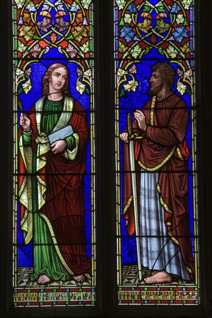 St John the Evangelist and St Paul    detail from    St John the Evangelist with Moses and St Paul