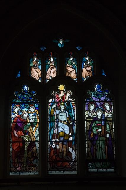 St Michael with King David and St Cecilia