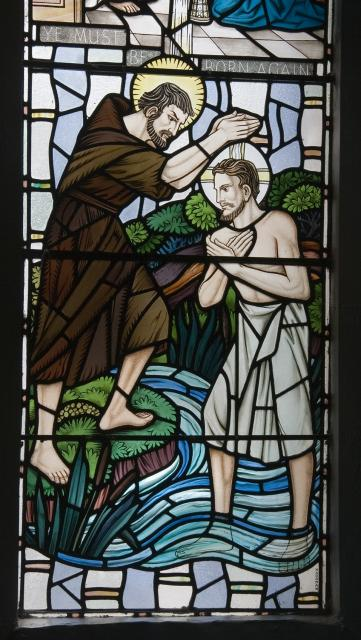 The Baptism of Christ    detail from    Scenes from the Bible