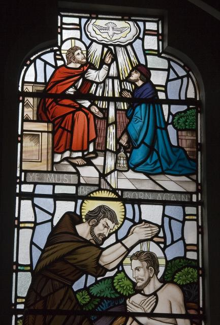 Christ and Nicodemus    detail from    Scenes from the Bible