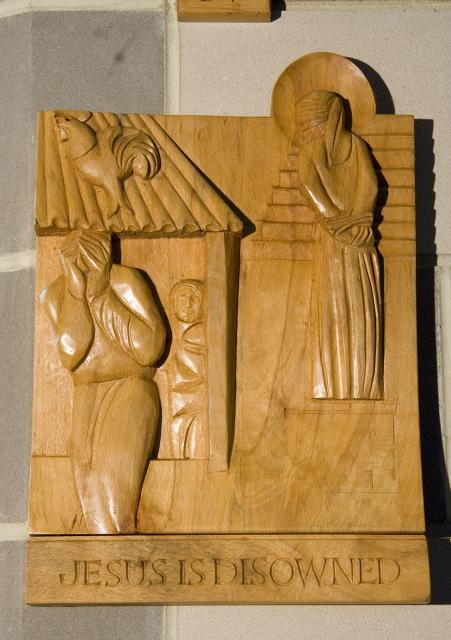 Jesus is Disowned    from    Stations of the Cross