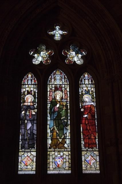 St Gertrude of Nivelles, St John the Divine and St Emily