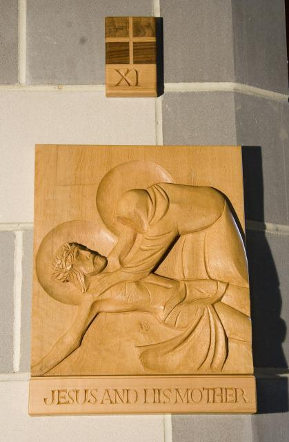 Jesus and His Mother    from    Stations of the Cross