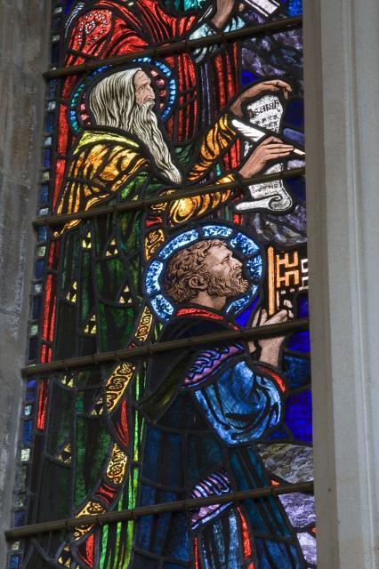 Peter and Isaiah    detail from    Te Deum