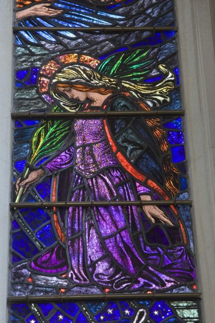 Kneeling Female Martyr    detail from    Te Deum