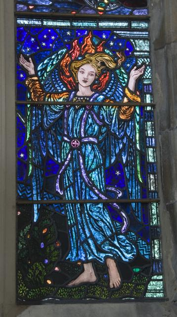 Angel    detail from    Te Deum