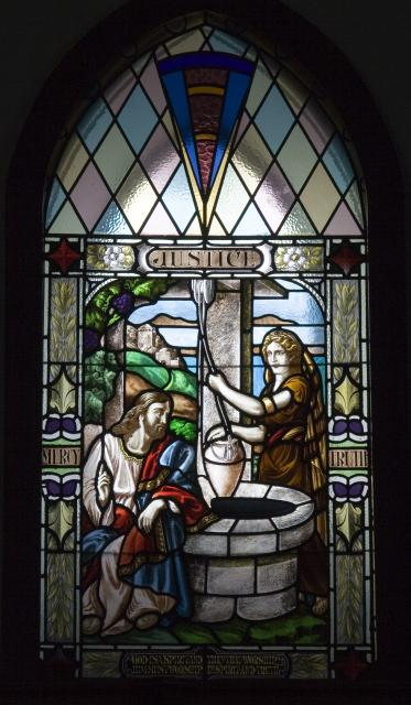 Christ with the Woman of Samaria    from    Justice, Charity and Patience