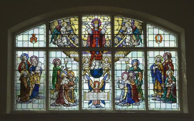 Christ in Glory with Saints and other Characters from the Bible