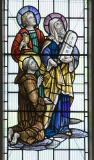 St John, Moses and St Francis: Christ in Glory with Saints and other Characters from the Bible
